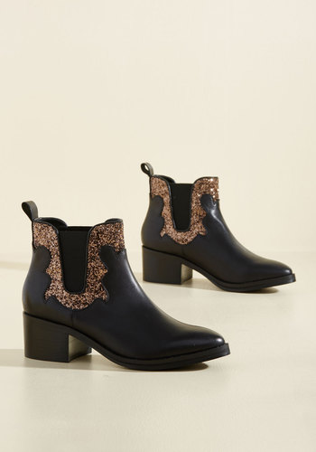 Watch Sparkles Fly Leather Booties
