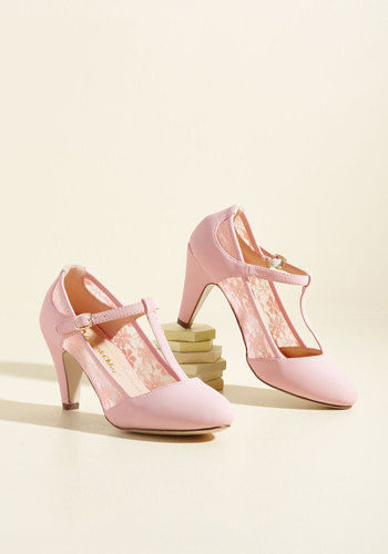1950s Style Shoes Romance on Air Heel in Blush $39.99 AT vintagedancer.com