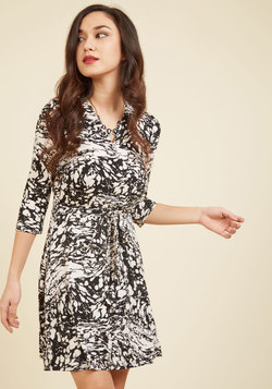 Wrap of Luxury A-Line Dress in Marble