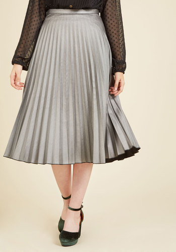 1940s Style Skirts All Accordion to Plan Midi Skirt $69.99 AT vintagedancer.com
