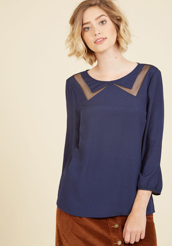 1920s Style Blouses Faux the Record Top in Midnight $44.99 AT vintagedancer.com
