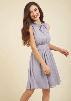 Sunny City A-Line Dress in Moon