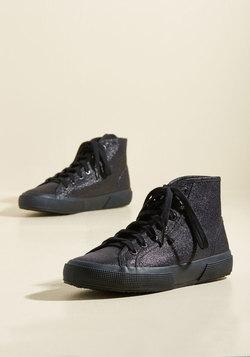 Here's the Kicker Sneaker in Metallic Midnight