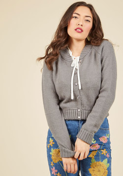 Just the Fortuitous Cardigan in Grey