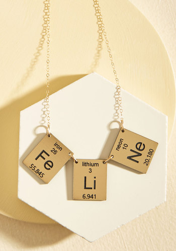 Element in the Room Necklace in Kitty by Vinca - Critter Gifts, Stocking Stuffers, Under 50 Gifts, Work, Casual, Cats, Nifty Nerd, Critters, Gold