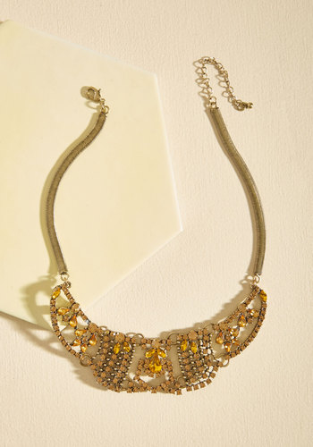 Legendary Loveliness Necklace - Gold, Under 50 Gifts, Sparkly2015, Yellow, Gold, Special Occasion