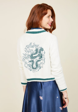 Just the Fortuitous Cardigan in Ivory