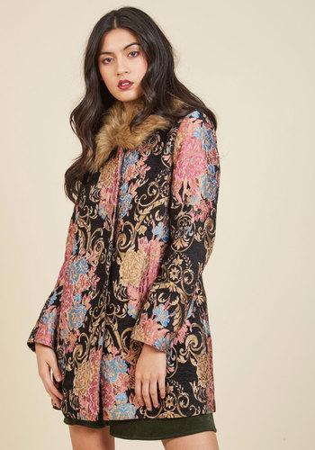 Retro Vintage Style Coats, Jackets, Fur Stoles Classic Charisma Coat $139.99 AT vintagedancer.com