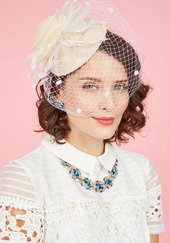 Vintage Inspired Wedding Accessories Wed the Time is Right Fascinator $39.99 AT vintagedancer.com