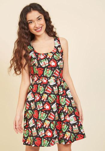 Merry Well Then A-Line Dress