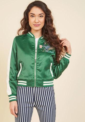 Shop 1960s Style Coats and Jackets Varsity Cues Jacket $69.99 AT vintagedancer.com