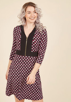 Make Your Groove Long Sleeve Dress