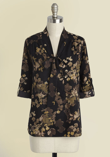 Careerist and Dearest Floral Top in Earth Tones