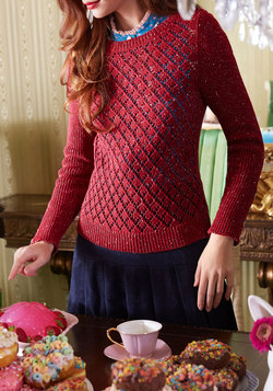 Impromptu Photoshoot Sweater in Garnet