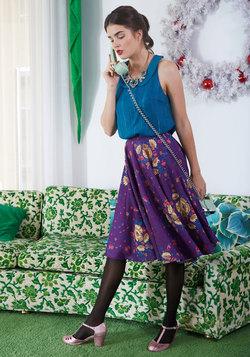 Posh Flourish A-Line Skirt