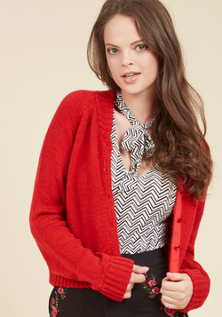 Just the Fortuitous Cardigan in Cherry