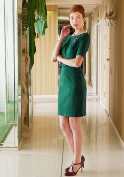 Ritzy Wishes Sheath Dress in Forest