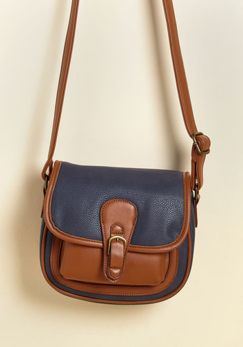 Crossbody Language Bag - Brown, Solid, Work, Casual, Winter, Good, Faux Leather