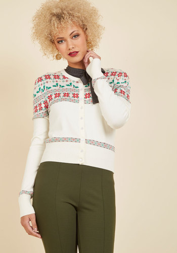 1950s Style Sweaters, Crop Cardigans, Twin Sets Thats Holly She Wrote Cardigan $49.99 AT vintagedancer.com