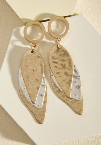 Step Out for Some Layer Earrings - Stocking Stuffers, Under 50 Gifts, Under 25 Gifts, Gold, Gold, Silver