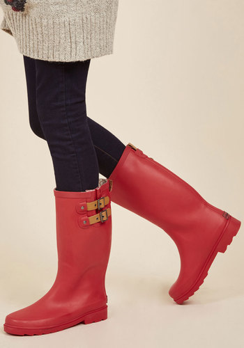 Puddle Jumper Rain Boots in Cherry