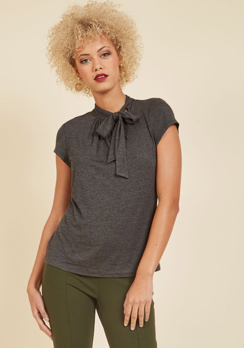 1930s Style Tops, Blouses & Sweaters Advert Yourself Top in Charcoal $34.99 AT vintagedancer.com