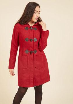 Theater Greetings Coat in Crimson