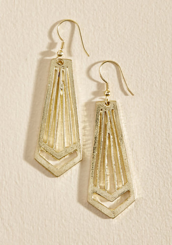 The Glory Rays Earrings by Mata Traders - Luxe Gifts, Stocking Stuffers, Under 25 Gifts, Gold, Gold, Work, Casual