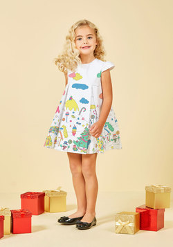 Tons of Fun Color-In Dress - 2T-8Y