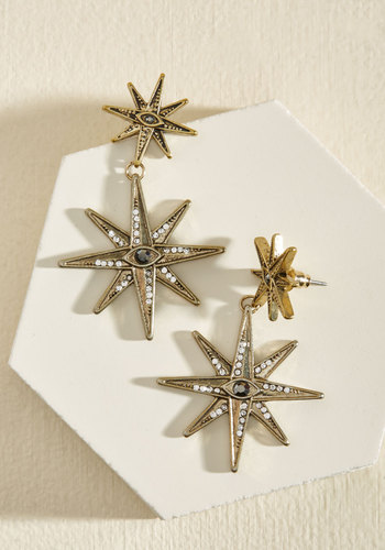 1930s Costume Jewelry Wish Upon a Starburst Earrings $17.99 AT vintagedancer.com
