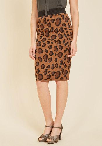 Sass It Along Leopard Print Pencil Skirt