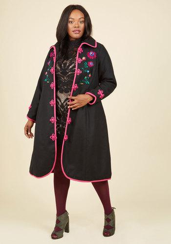 Retro Vintage Style Coats, Jackets, Fur Stoles Lovely Landscape Coat $229.99 AT vintagedancer.com