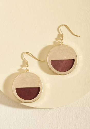 Might From Brightness Earrings - Gold, Gold, Work, Casual, Minimal, Mod, Winter, Good