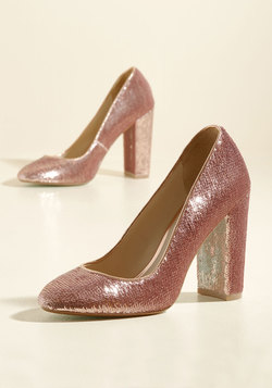Sequin and Ye Shall Find Heel in Rose