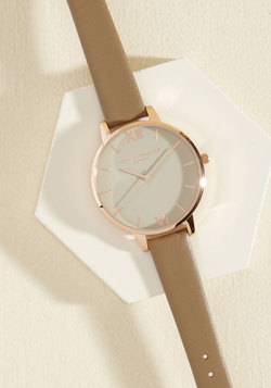 Time Floats By Watch in Greige & Rose Gold - Big