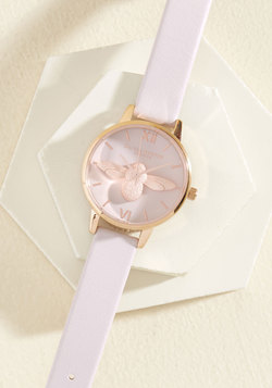 Bee There in a Minute Watch in Blush & Rose Gold - Midi