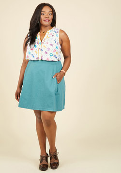 Clever Contribution A-Line Skirt