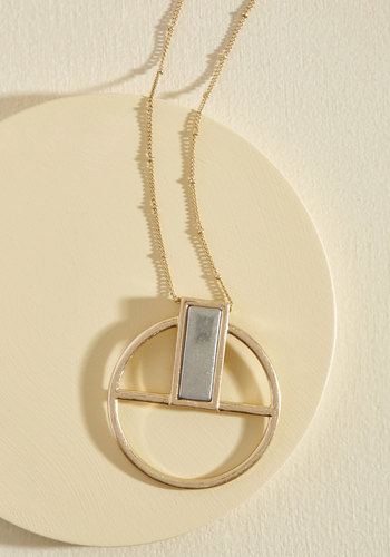 Design Flawlessness Necklace - Silver, Gold, Party, Casual, Winter, Good, Gold