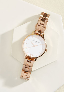 Teacup and Running Watch in Rose Gold - Big