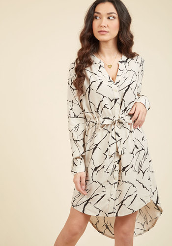 Do You Coffee Shirt Dress in Marble