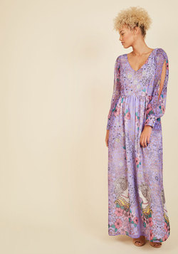 Loop, Twirl, and Arch Maxi Dress in Lilac