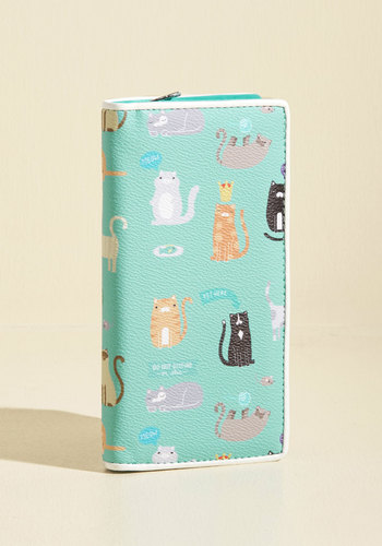 Who Owns Who? Wallet - Multi, Mint, Animal Print, Print with Animals, Work, Casual, Quirky, Cats, Fall, Better, Critter Gifts, Under 50 Gifts