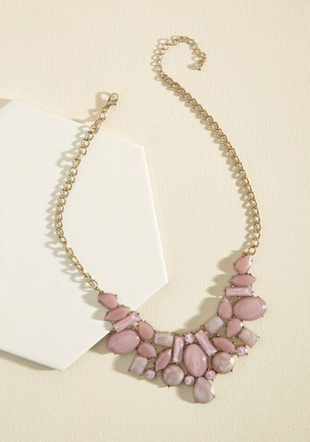 Statement Your Business Necklace - Pink, Blush, Prom, Wedding, Party, Wedding Guest, Statement, Winter, Better, Gold