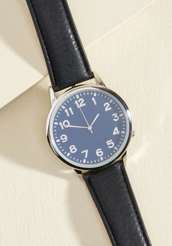 Only a Flatter of Time Watch - Blue, Black, Silver, Work, Casual, Winter, Silver, Better
