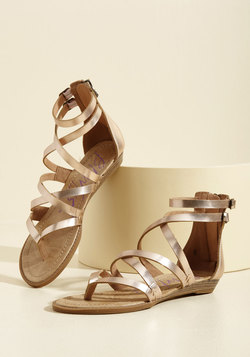 What's the Plan, Sand? Sandal in Rose Gold