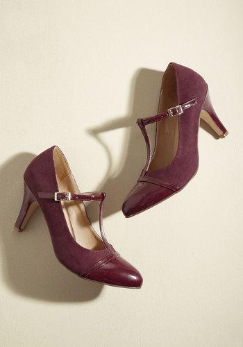 1920s Style Shoes Primed With Polish Heel $49.99 AT vintagedancer.com