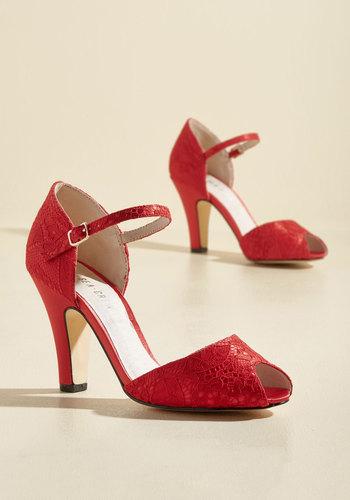 1930s Style Shoes The Sole Works Heel in Scarlet $69.99 AT vintagedancer.com