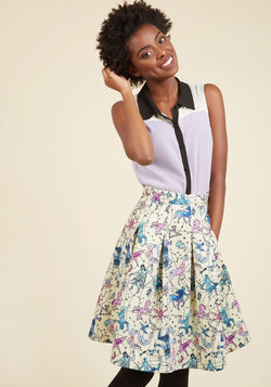 Ethereal Expression Pleated Skirt