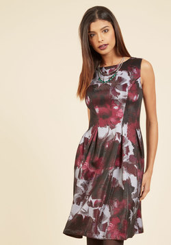 Mesmeric Moments A-Line Dress