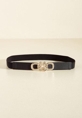 Ritz and Reward Belt - Black, Flower, Party, Statement, Winter, Better, Gold
